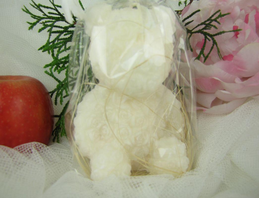 Bílý medvídek svíčka
