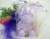 Svíčka medvídek fialový lila