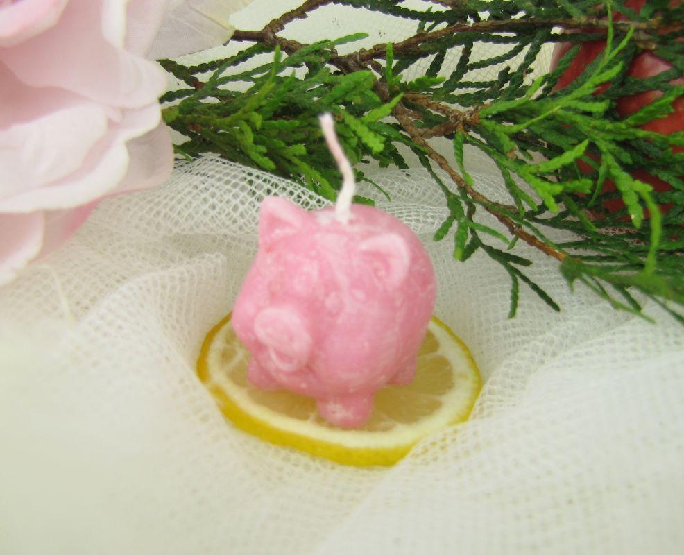Svíčka malé prasátko růžové