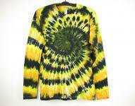 Batikované tričko dlouhý rukáv Ohňostroj, XL