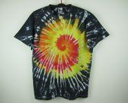 Batikované tričko ON FIRE - na objednávku