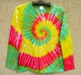 Batikované tričko Happy