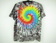 Batikované triko duhové Rainbow nature, XL