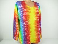 Dámské duhové tričko batika
