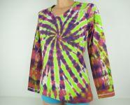 Dámské tričko dlouhý rukáv batika Meloun, L