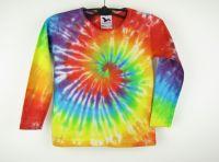 Dětské batikované tričko Duhová spirála, XS