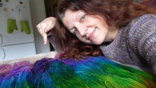 Mína Šťastná barvení a batika textilu a vlny