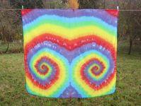Velký šátek duhové pareo batika