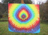 PAREO šátek velký batika DUHOVÝ DIAMANT, 140x120cm
