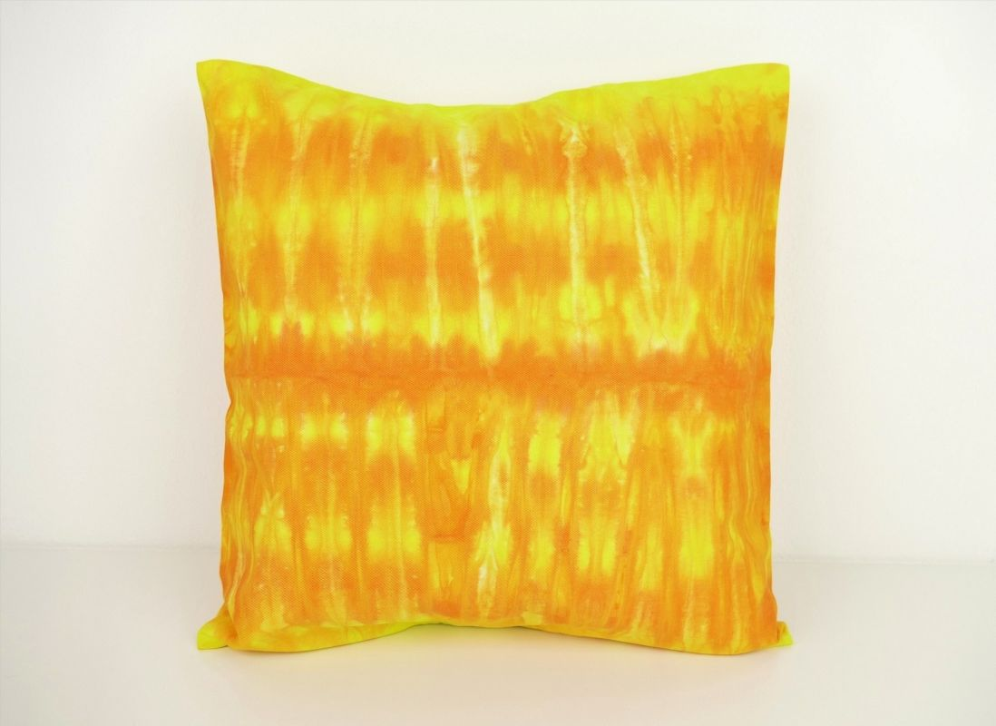 Povlak na polštářek žlutý batika