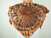 Šáteček malý batikovaný spirála HNĚDÁ