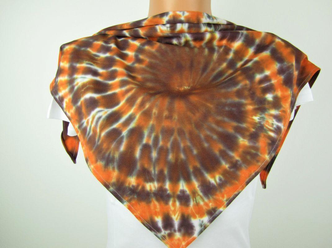 Šáteček malý hnědý batika