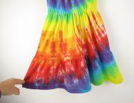 Dětské letní šatičky duhové batika