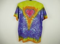 Batikované tričko Véčko srdce