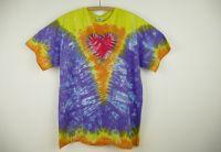 Batikované tričko Véčko srdce, 2XL