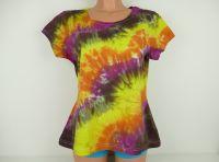 Dámské tričko batika Žhavé uhlí, XL