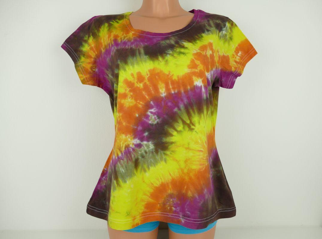 Dámské batikované tričko Žhavé uhlí