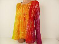 Dámské ohnivé tričko batika