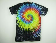 Dětské duhové tričko batika Fénix, XL