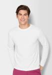 Bavlněné tričko s dlouhým rukávem, vyšší gramáž, bílé