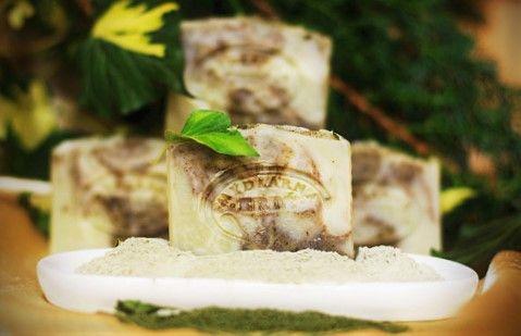Zelený jíl a máta mýdlo přírodní