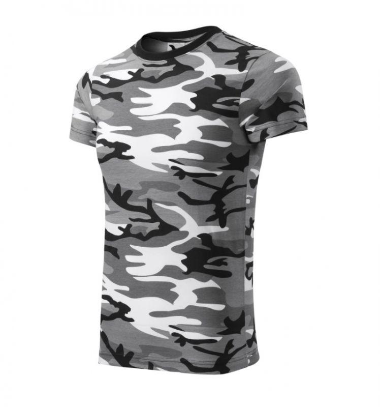 Maskáčové tričko černobílé pánské