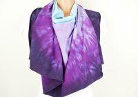 Pončo fialové batika šátek 2v1