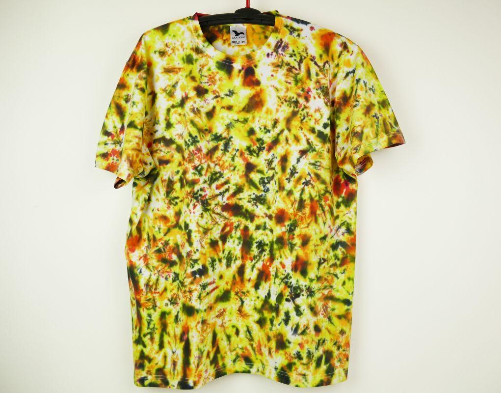 Pánské batikované tričko Žhavé uhlí