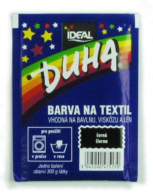 Barva Duha na textil - Černá
