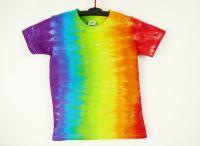 Dětské batikované tričko DUHA, M