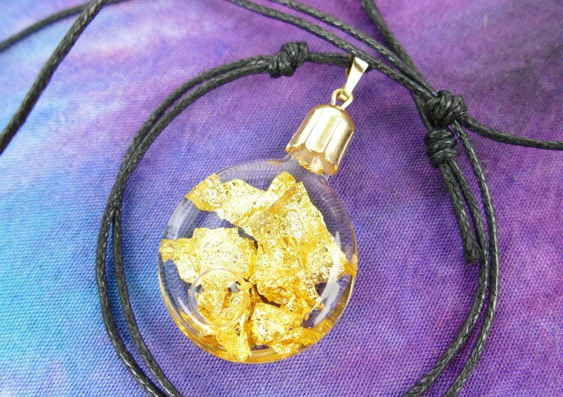 Zlato v lahvičce přívěšek