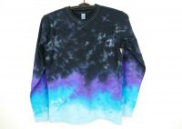 Modré tričko batika BLUE UNIVERSE, XS