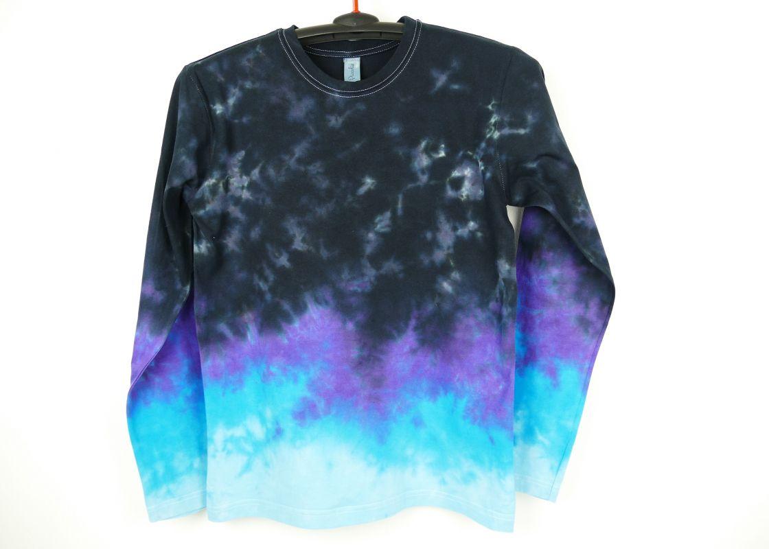 Batikované tričko modré Blue universe
