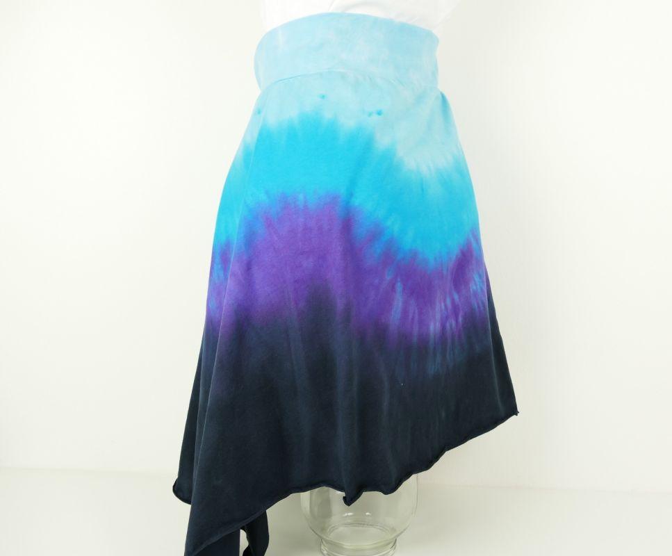Batikovaná sukně s cípem modrá