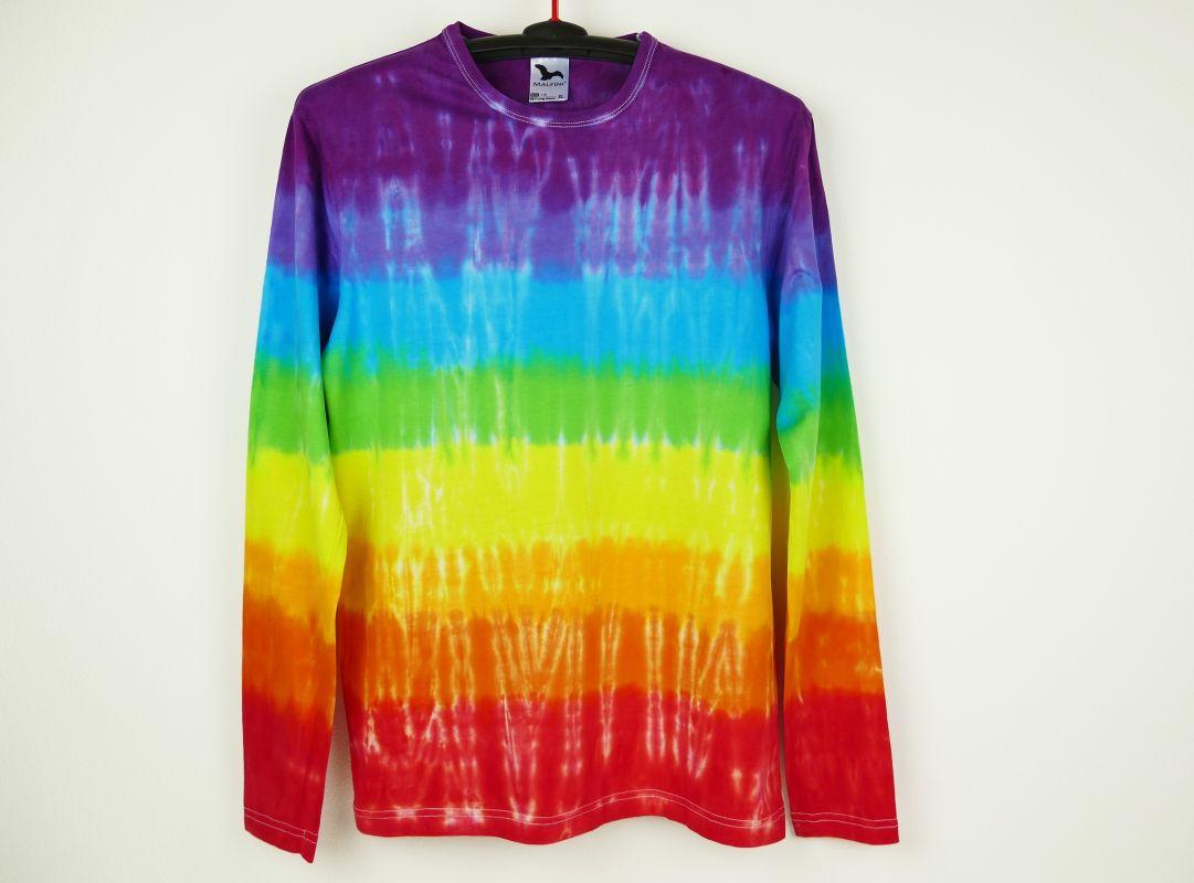 Batikované tričko duhové Barvy čaker