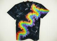 Batikované tričko duhové RAINBOW FLASH - na objednávku