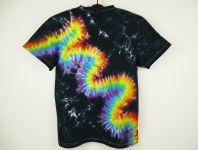 Batikované tričko duhové Rainbow flash