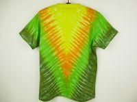 Zelené tričko véčko batika