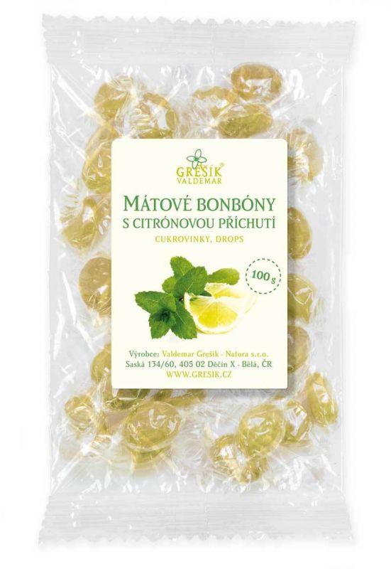 Zdravé mátové bonbóny s citronem