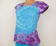 Dámské tričko batika BLUE GALAXY, S