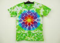 Dětské tričko s mandalou batika KVĚTINA L