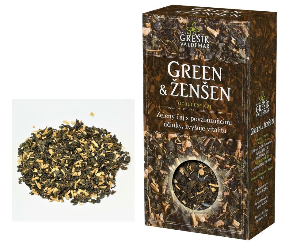 Zelený čaj s ženšenem