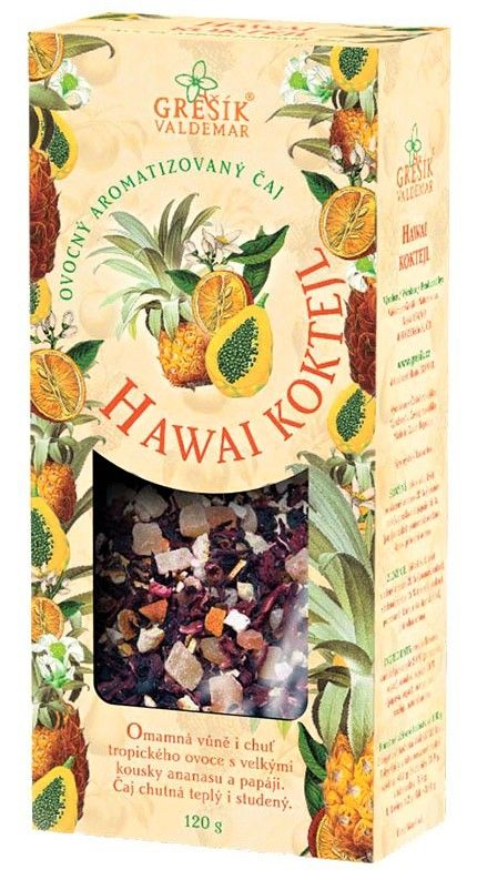 Hawai koktejl - ovocný ananasový čaj