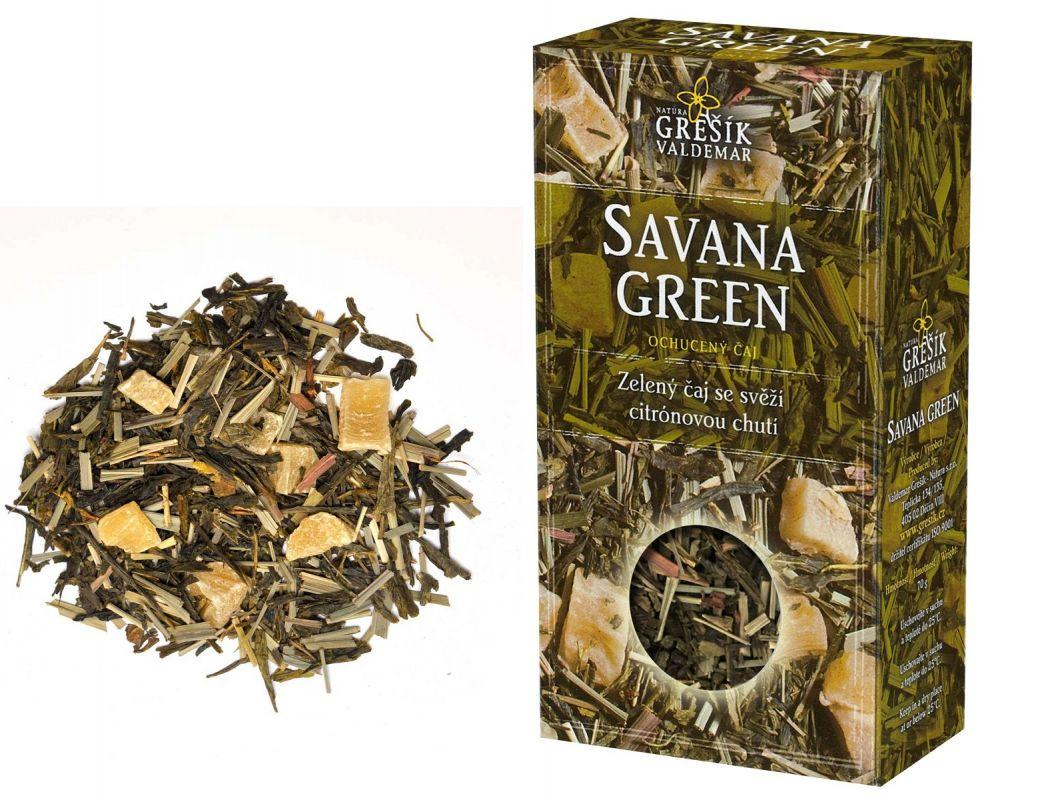 Zelený čaj s ananasem Savana