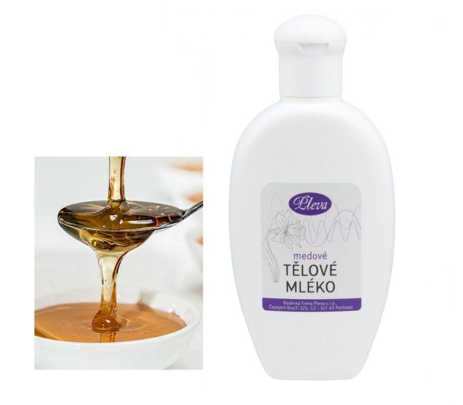Přírodní tělové mléko medové