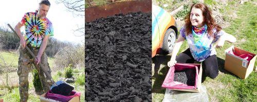 Dřevěné uhlí biouhel do půdy