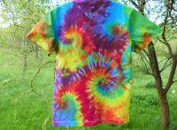 Batikované tričko duhové Color mix