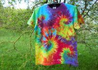 Batikované tričko duhové COLOR MIX, M