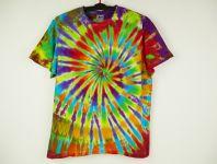 Pánské tričko duhové batika ŠAMAN - na objednávku