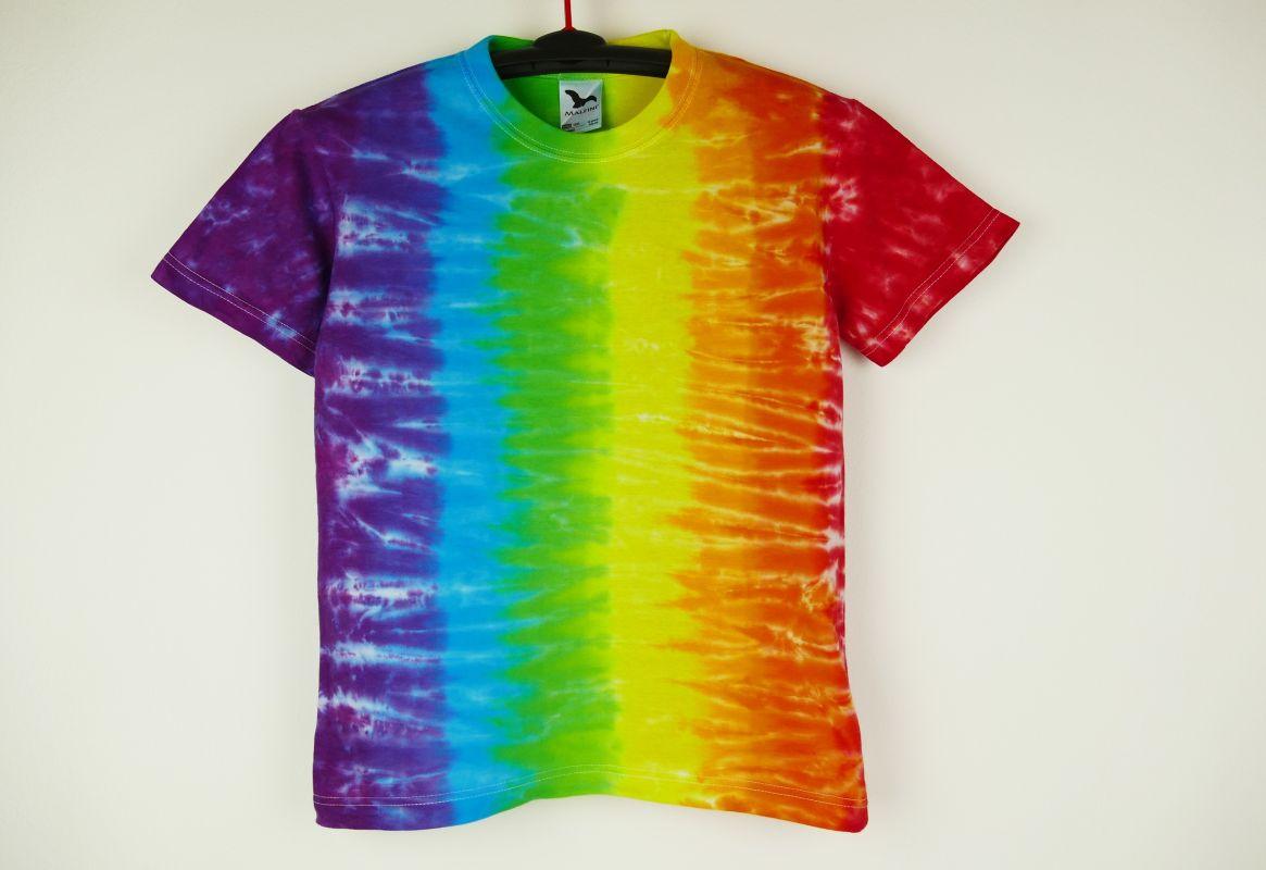Dětské tričko batika Duha